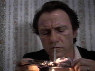 Harvey Keitel smoking dope!